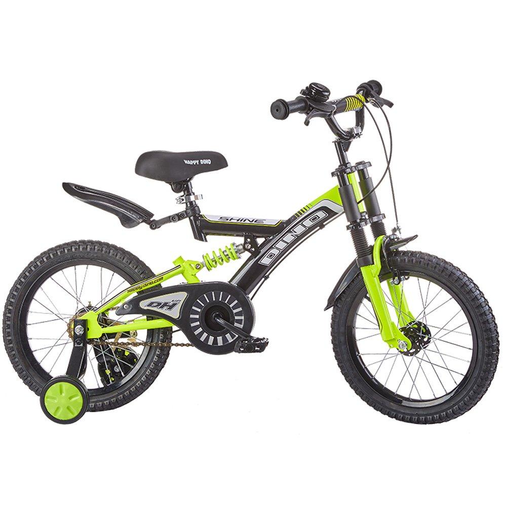 オリジナル CHS@ 子供用自転車6-12歳の赤ちゃんキャリッジ18インチの生徒マウンテンバイクダブルショックアブソーバユニセックス子供用トレーニングホイール #3 子ども用自転車 18
