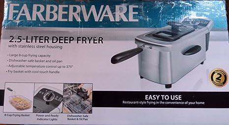 Farberware - Freidora (2,5 L, acero inoxidable): Amazon.es ...