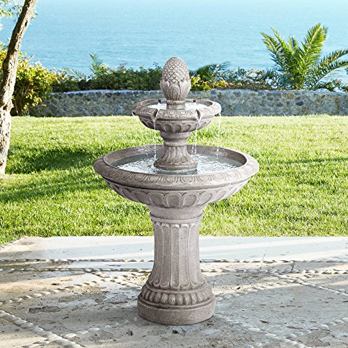 Outdoor Stone Fountains - John Timberland Dela 35 1/2