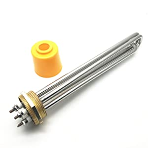 XMHF Tubular Water Heating Element Stainless Steel Thread 220V 6000W for Tank Boiler Water Heater