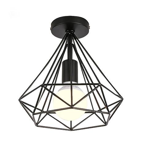 Modern Black Birdcage Ceiling Lights Iron Minimalist Retro Ceiling