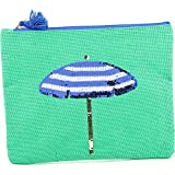 Mud Pie Women's Fashion Maya Bay Dazzle Jute Carry-All Case (Umbrella)