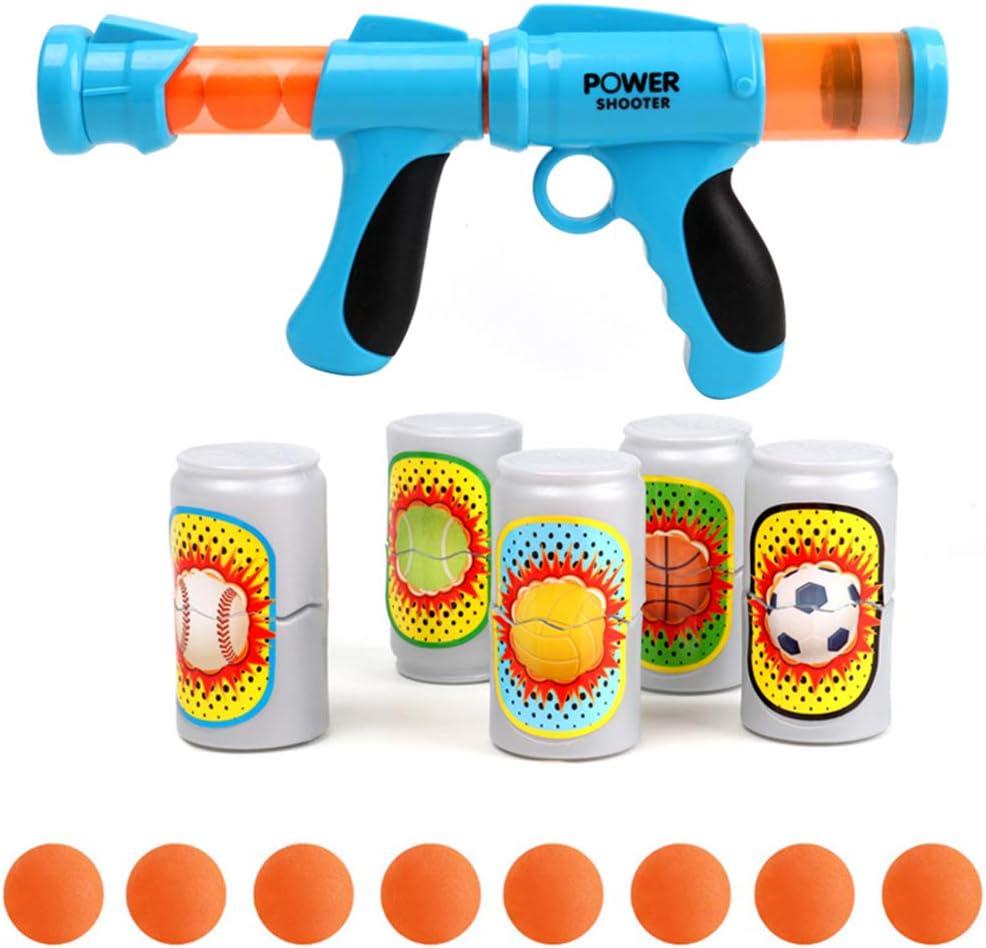 FeiWen Juguete De Tiro para Niños Juguete Lanzador de Pelotas de espumas de Aire Juguetes de Batalla competitivos para niños Regalos de cumpleaños