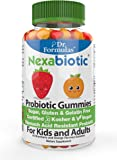 Dr. Formulas Nexabiotic Chewable Probiotic Gummies for Kids and Adults, Certified Kosher and Vegan, Free of Sugar, Gluten, and Gelatin, 30-day Supply