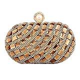 FstFshion Womens Rhinestone Glass Diamond Evening Handbag Crystal Clutch Bag Purses