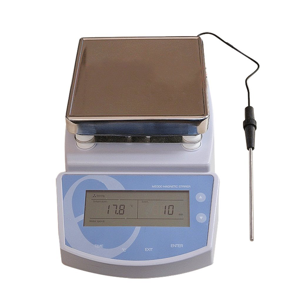 Finlon Laboratory Magnetic Stirrer HotPlate Digital Heating Mixer Max Temperature 300℃,110V by Finlon
