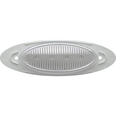 """Optronics 00212358P Clear Lens Light 6.5"""" Sealed LED Marker/Clearance Light, Red: Automotive"""