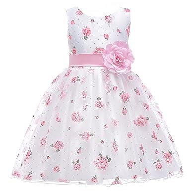 Amazon.com: Berngi Flower Girl Dress for Girls Wedding Gowns ...