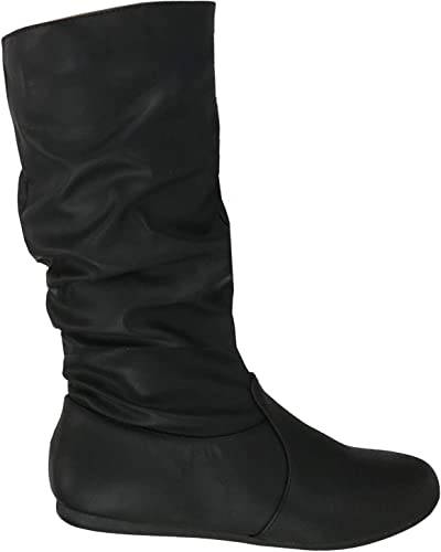 Wells Collection Womens Slouchy Boots