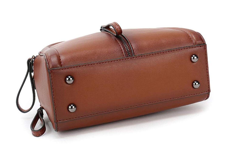 JBHURF Leather Handbag Handbag Fashion Spray Color Shoulder Diagonal Package Green Color : Red, Size : One Size