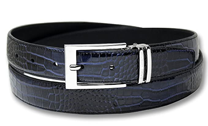 Amazon.com: Biagio Croc Embossed Color Azul Marino de los ...