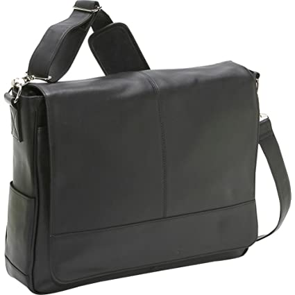 5df118ace33 Amazon.com: Royce Leather Laptop Messenger Bag, Black: Computers ...