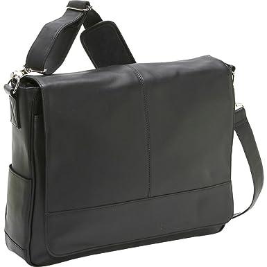 Amazon.com: Royce Leather Laptop Messenger Bag (Black): Sports ...