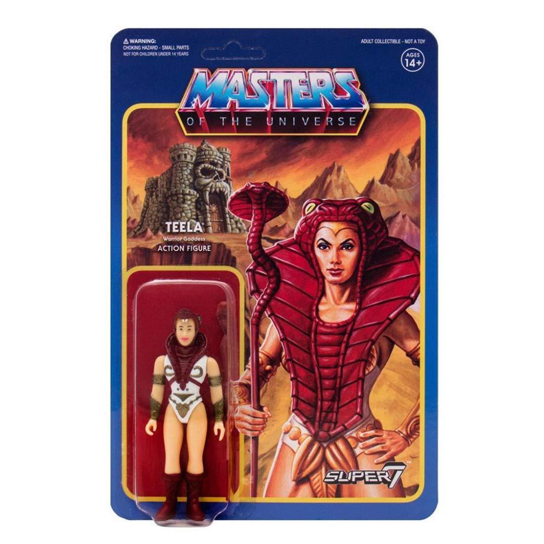 Masters of The Universe x Super7 Reaction Mini Action Figure 1 Superhero Themed Trading Card Bundle Teela 34581