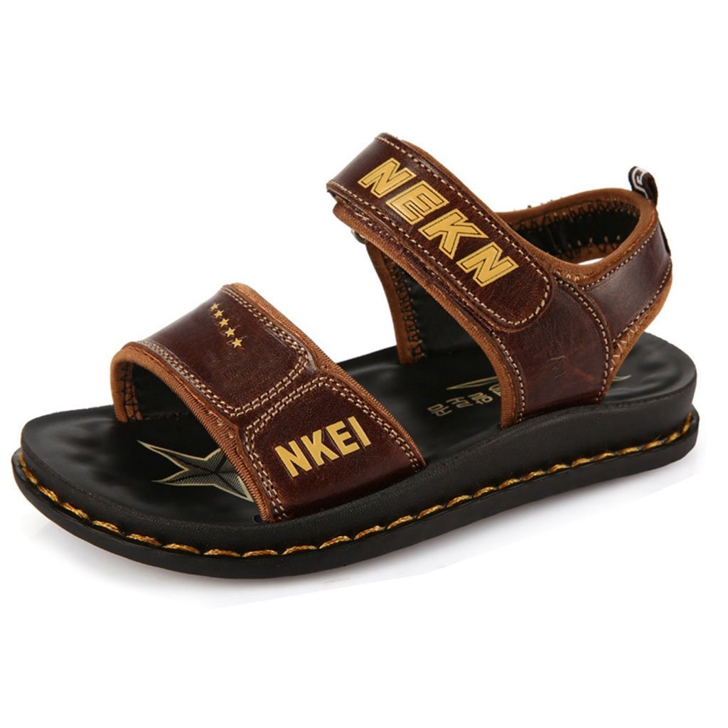 GIY Boys Girls Open-Toe Sport Water Sandals Casual Leather Open Toe Outdoor Sandal Shoes(Toddler/Little Kid/Big Kid)