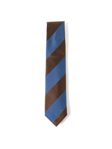 Silk Stripe Tie 21-44-6004-380: Brown
