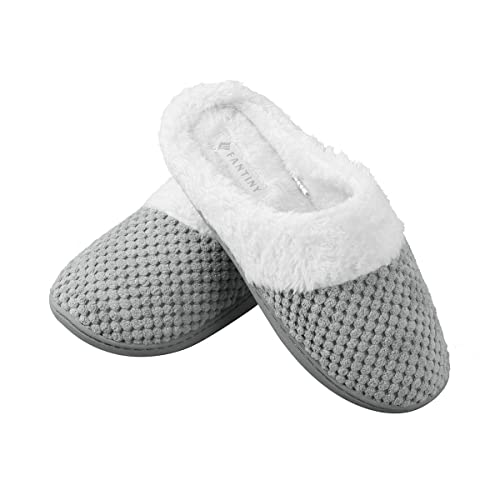 95ad7cc36e293 Joybery Women's Warm Winter Memory Foam Slippers Coral Fleece Lining Slip  On Clog Scuff House Shoes Indoor Outdoor Use