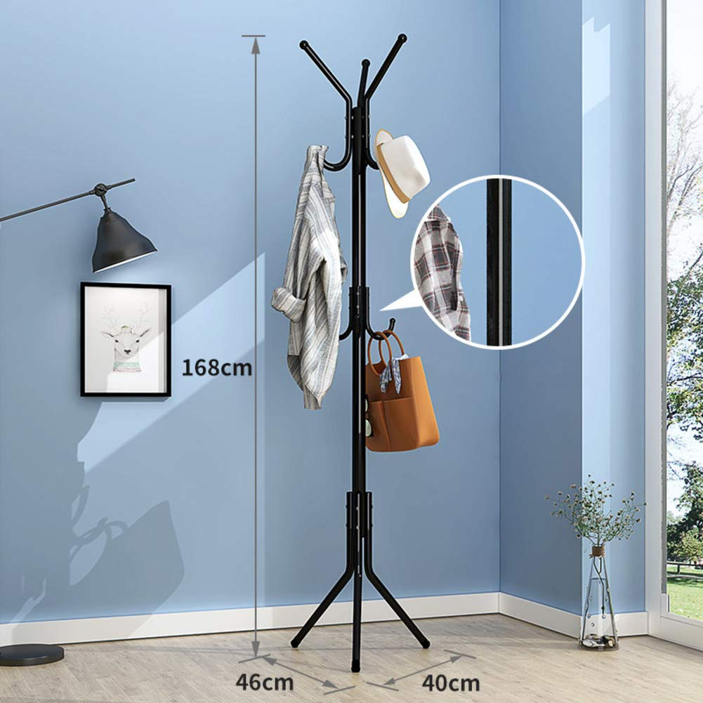 E 40x168cm(16x66inch) Metal Hat Coat Rack,Coat Tree Entryway Standing,Perfect Touch for Your entryway Mudroom Kitchen Bathroom More-E 40x168cm(16x66inch)
