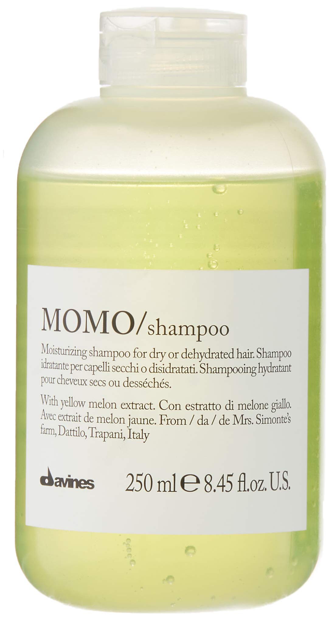 Davines Momo Moisturizing Shampoo for Dry and Dehydrated Hair, 8.45 Ounce by Davines