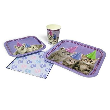 Amazon.com: Decoración de gatitos para fiestas ...
