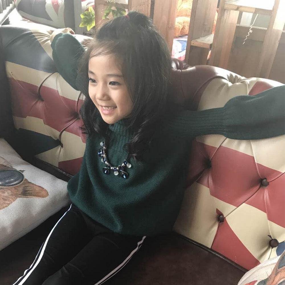 Children Sweater,amazingdeal Girl Winter Lantern Sleeves Warm Knitted Sweater