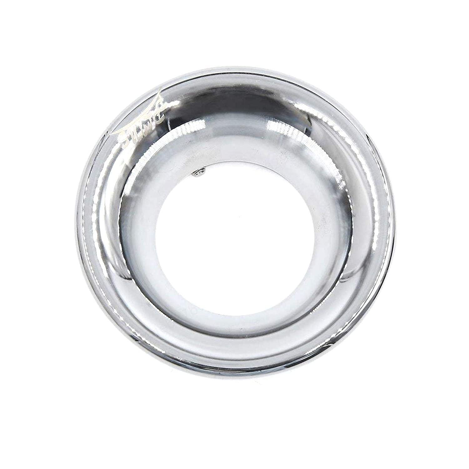 COMEYOU Velocity Stack 50mm Inlet Dia Moto Compresseur dair Turbo Admission Velocity Stack Silver Tone