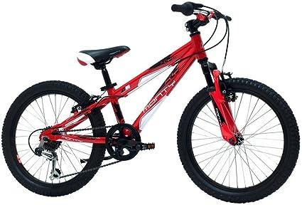 Monty KY5 - Bicicleta de montaña para niño, Color Rojo, 10