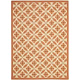 Safavieh Courtyard Collection CY7844-11A7 Cream and Terracotta Indoor/Outdoor Area Rug (8′ x 11′)