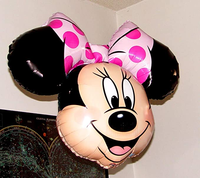 Fantastic Floatables Anti-Gravity Hovering Flying Floating MINNIE MOUSE HEAD 27 inch Toy Pet Balloon Party Favor