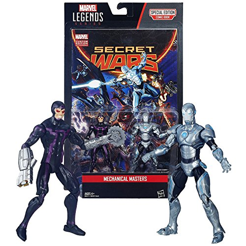 Hasbro Year 2015 Marvel Legends Comic Book Series 2 Pack 4 Inch Tall Figure - MECHANICAL MASTERS with MACHINE MAN, SUPERIOR IRON MAN and Comic