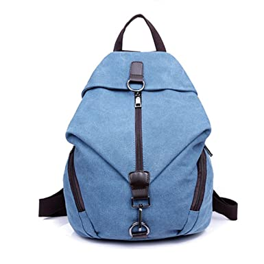 14fac7a1ec64 Tiny Chou Womens And Girls  Durable Canvas Backpack Schoolbag Travel Daypack