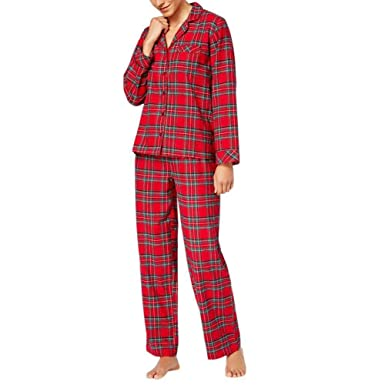 a89ade74a3330 Bornbayb Noël Famille Tenues Assorties Père Mère Enfants Pyjamas À Carreaux  Manches Longues Hiver Homewear Vêtements De Famille De Noël  Amazon.fr  ...