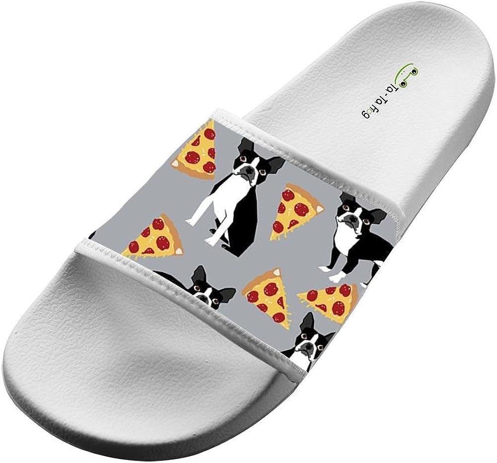 UIJ JJAA Pizza Pug Fashion Slide Sandals Indoor /& Outdoor Slippers