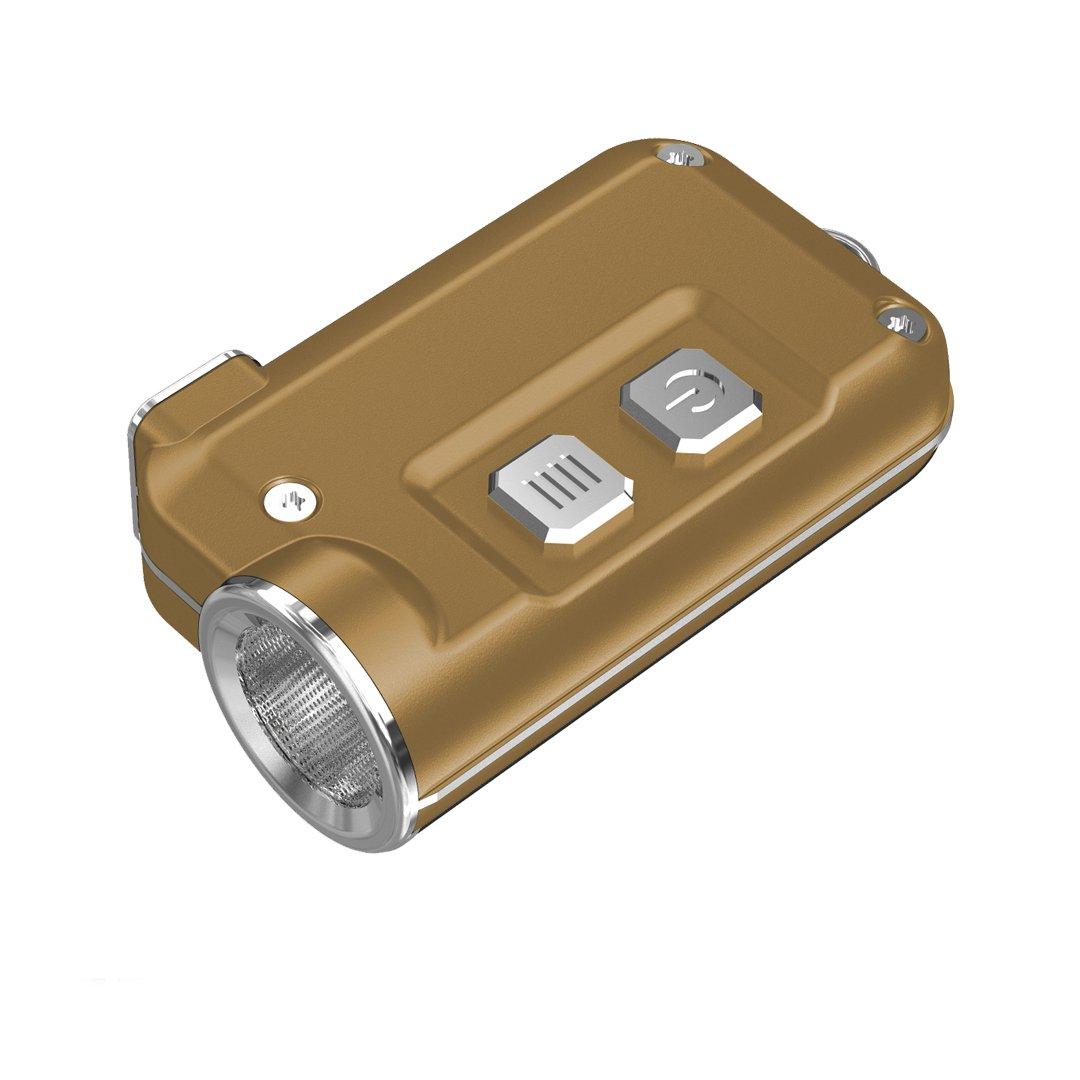 Llavero Super Peque/ño NITECORE TINI 380 LM HANDIPRO Linterna Azul de luz LED Recargable por USB
