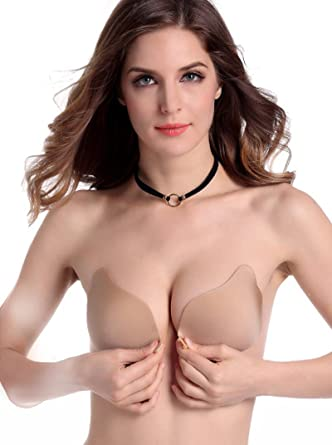 9dbf2362b7 Tuopuda Women s Invisible Bra Strapless Self Adhesive Bra Silicone Push up  Backless Bra (Cup A