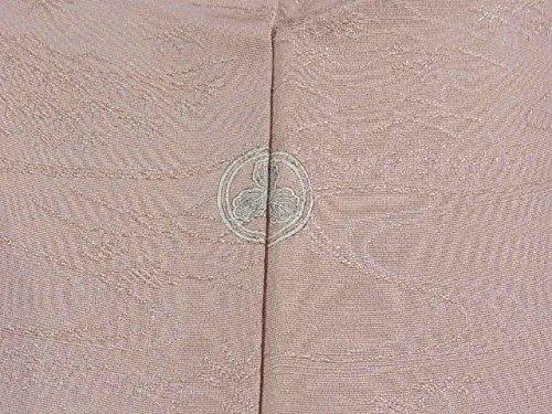 リサイクル 着物  色無地 一つ紋 正絹 袷 裄61.5cm 身丈147cm
