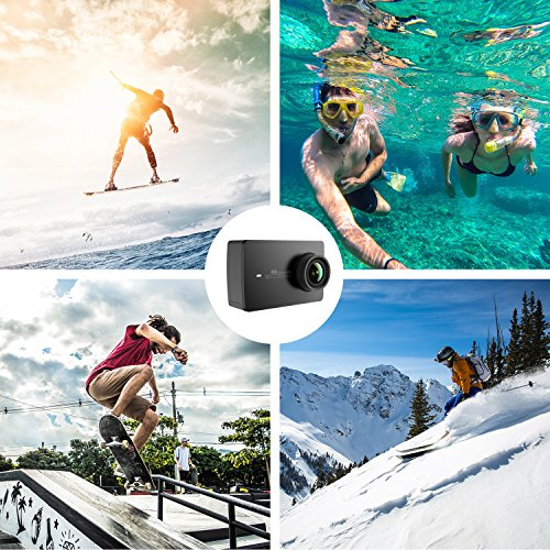"61CQ%2BGj9g6L - YI 4K Action Camera, 4K/30fps Video 2h Recording Time with 2.2"" Touch Retina Screen Sony IMX377 Image Sensor Live Sports Camera 40 Meters Waterproof Camera (Waterproof Case Not Included)"