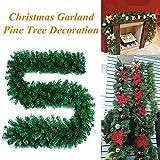 jufengliangyou Christmas Home Decor, 8.86ft Christmas Decorations Ornaments Xmas Tree Garland Rattan Home Wall Pine (Green)