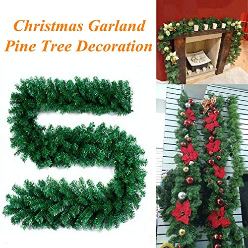 Clearance Sale!UMFun Christmas Decorations Ornaments Xmas Tree Garland Rattan Home Wall Pine 2.7M -