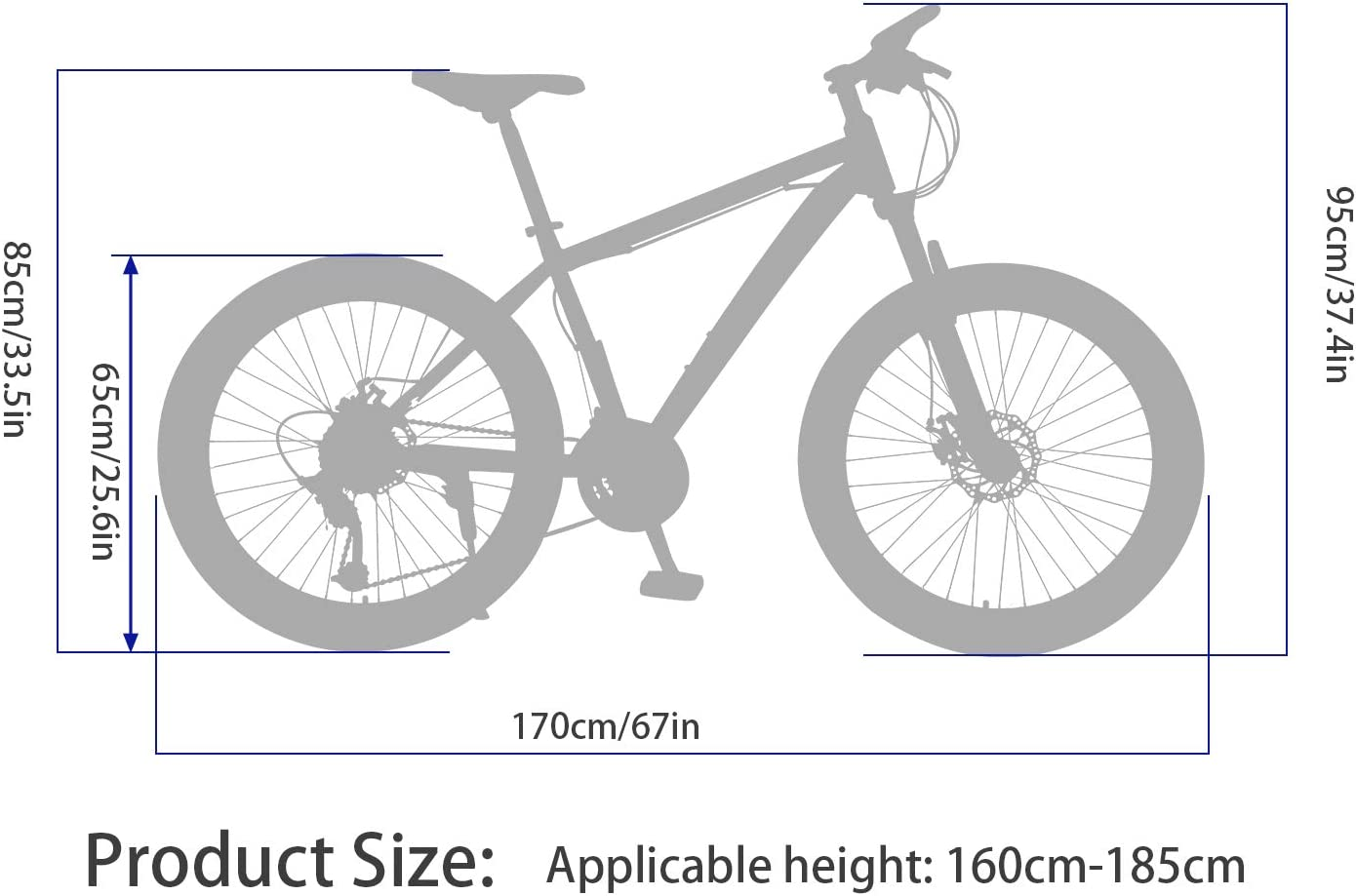 HIRUNS Full Mountain Bike,Mens and Womens Professional 21 Speed Gears 26in Bicycle Twist Shift Black