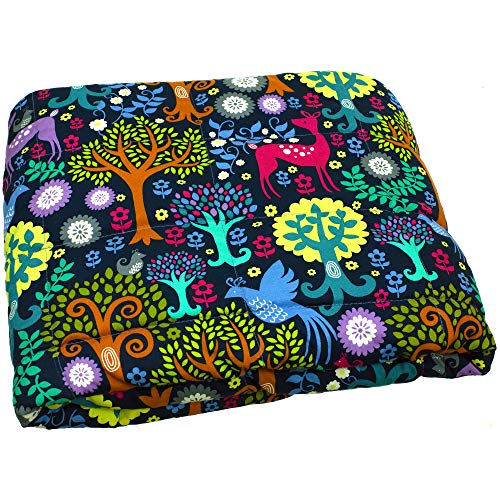 Calming Covers Weighted Blanket for Kids & Adult | Many Styles & Sizes | Made from Designer Fabrics and Weighted with Plastic Poly pellets (6 lbs 35 x 41, Enchanted Wood) ()