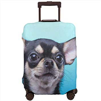 Cute Dog Travel Luggage Cover Spandex Washable Suitcase Protective Cover Baggage Protector Fit 18-32 inch Suitcase