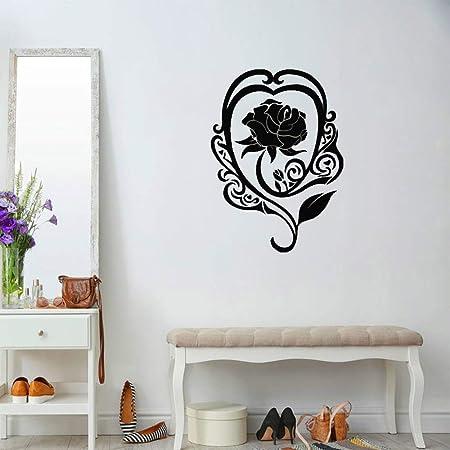 jiushixw Rose Etiqueta de la Pared Flor Amor romántico Vinilo ...