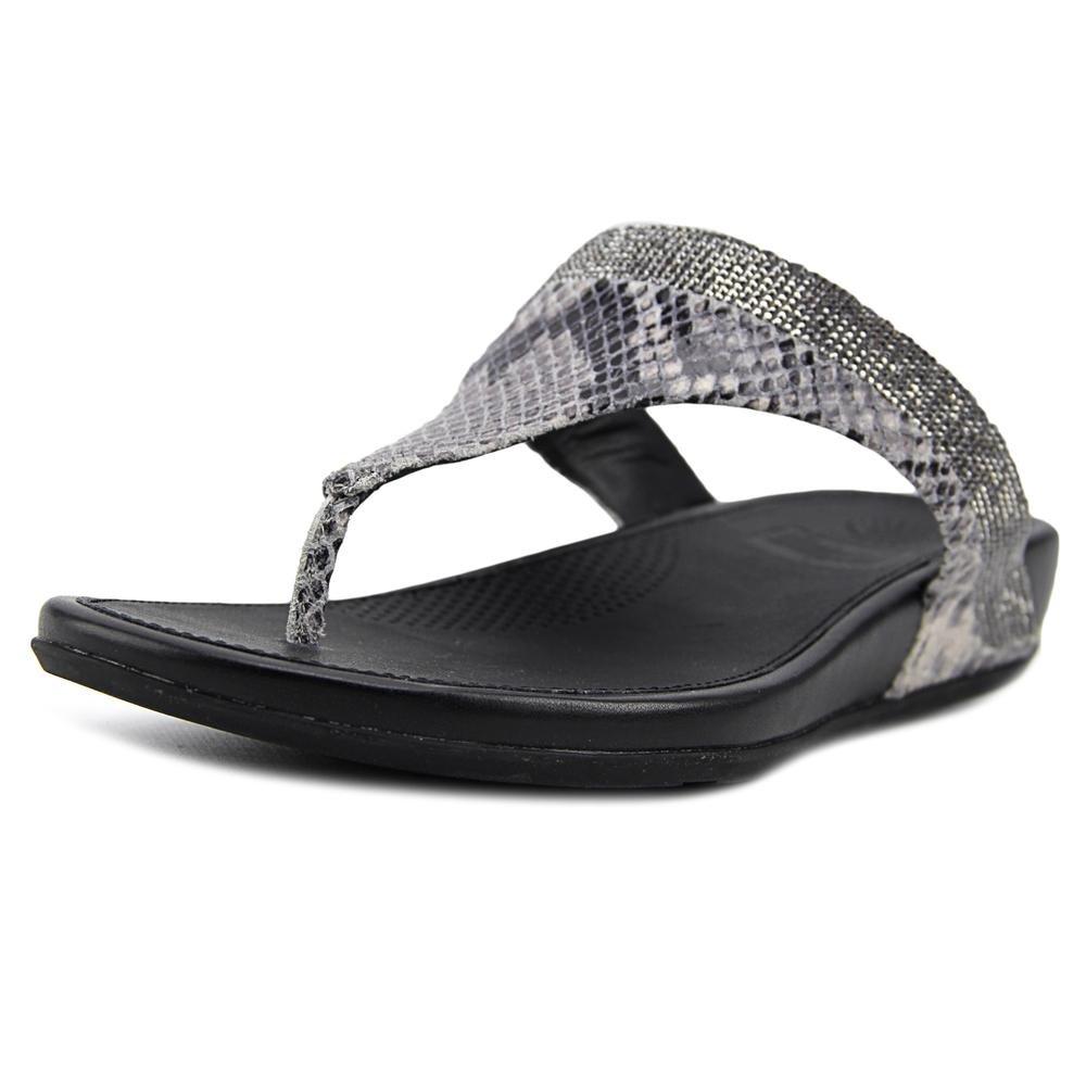 4fff50799ec7 Galleon - FitFlop Women s Banda Crystal Snake Toe Post Mink Sandal 10 M (B)