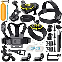 Erligpowht Outdoor Sports Accessories Set for GoPro Hero 4/3 + / 3/2/1 / SJ 4000 5000 cameras