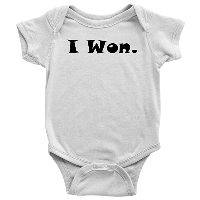 4ef982bfe5c5 Amazon.com  OystersPearl Funny Baby Onesies - Funny Onesies - I Won - Cute  Baby Onesie - Baby Boy - Baby Girl  Clothing