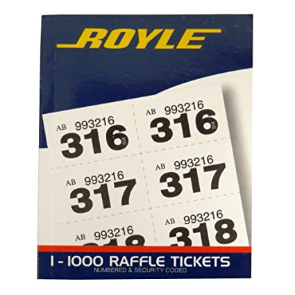 royle raffle tombola prize draw cloakroom ticket book 1 to 1000