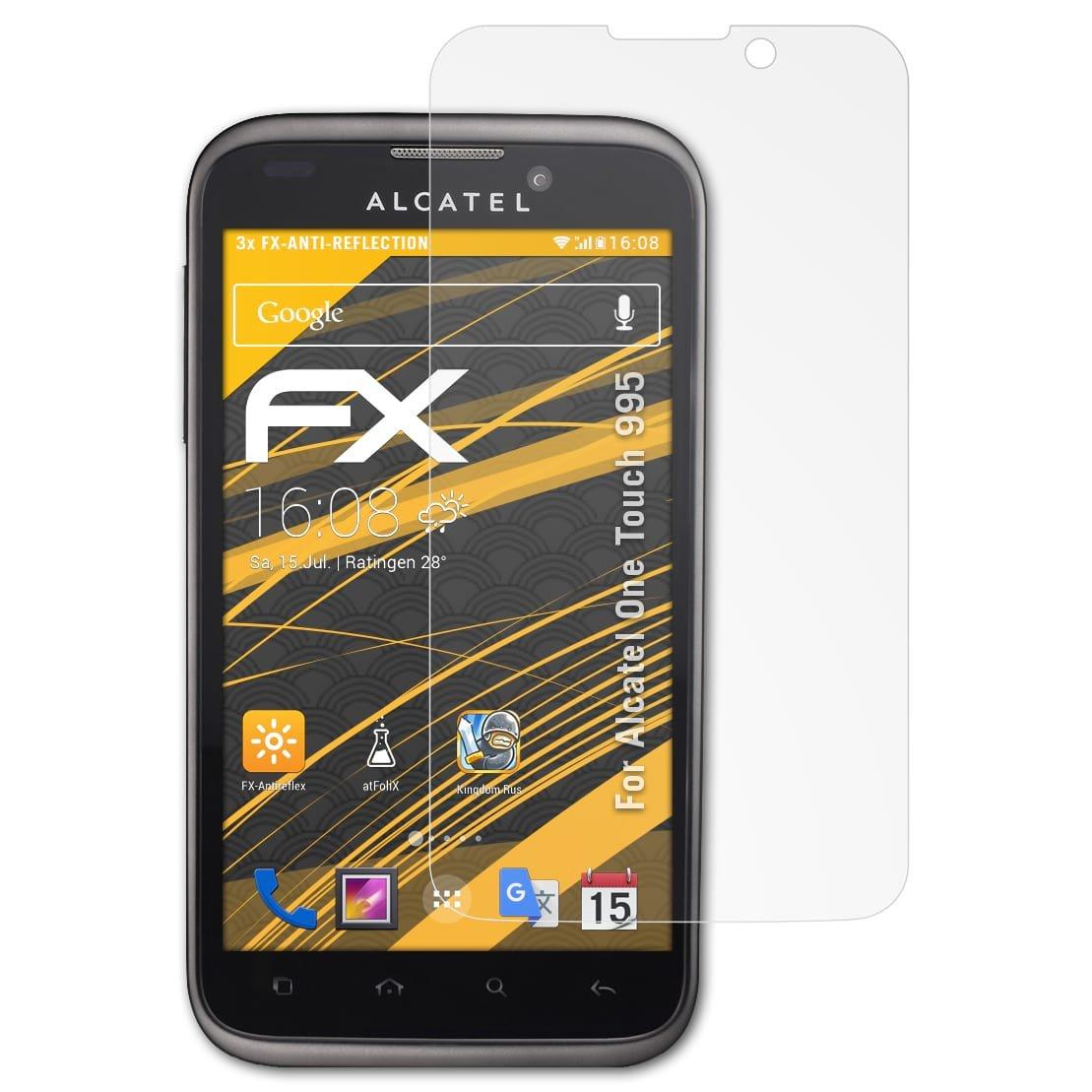 atFoliX Película Protectora Compatible con Alcatel One Touch 995 ...