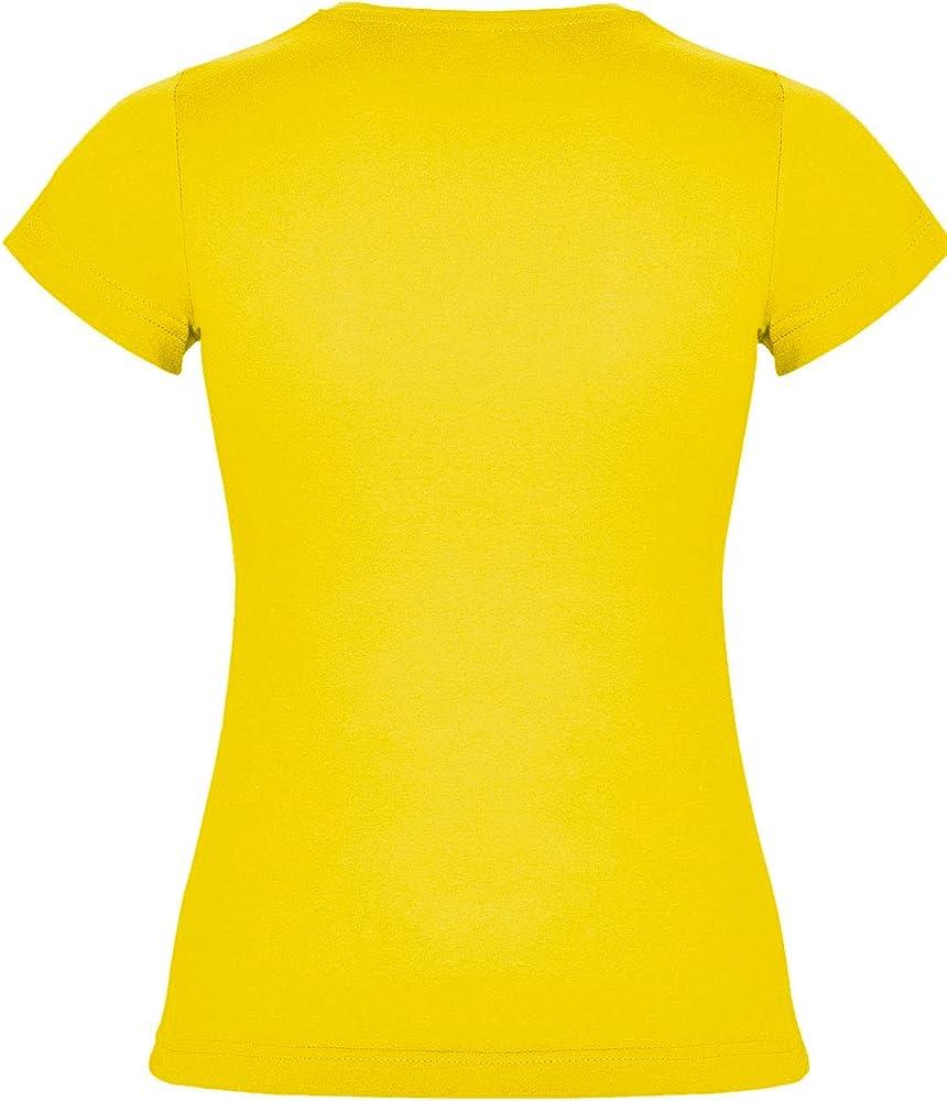 Killer Whale Camiseta Mujer Manga Corta Algodón Básica (Amarillo, S): Amazon.es: Ropa y accesorios