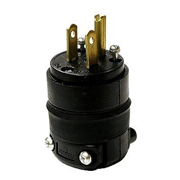 61CQ1BqY01L._SY355_ leviton 515pr 15 amp 125 volt, straight blade rubber plug, nema 5 NEMA 1-15 at nearapp.co